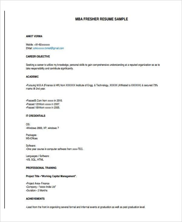 10 Graduate Fresher Resume Templates PDF DOC Free