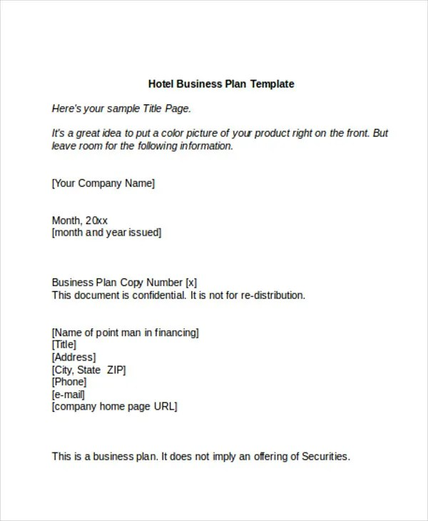 10 Hotel Sales Plan Templates PDF Google Docs MS