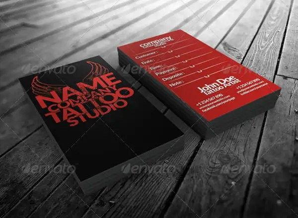 14 Tattoo Business Card Templates In Word PSD EPS Vector Free Amp Premium Templates