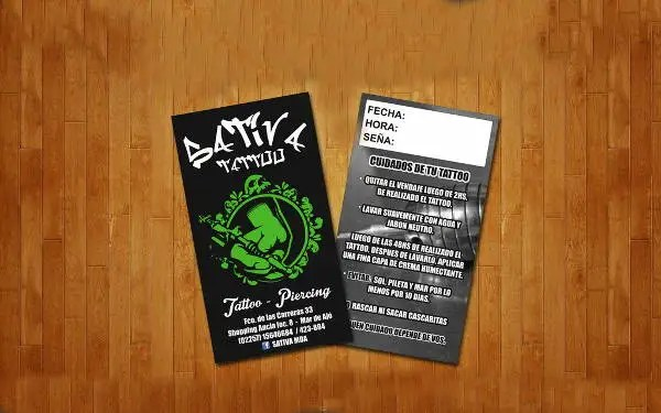 14 Tattoo Business Card Templates In Word PSD EPS