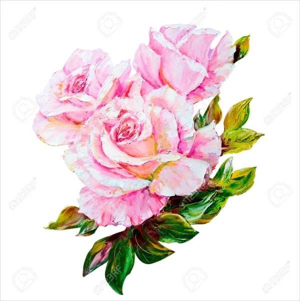9 rose paintings free