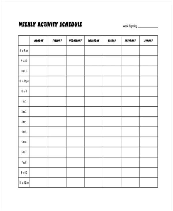 printable blank workout calendar