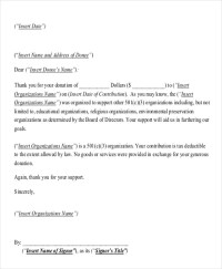 5+ Donation Acknowledgement Letter Templates - Free Word ...