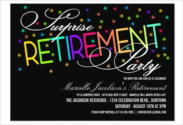free printable retirement party invitation templates