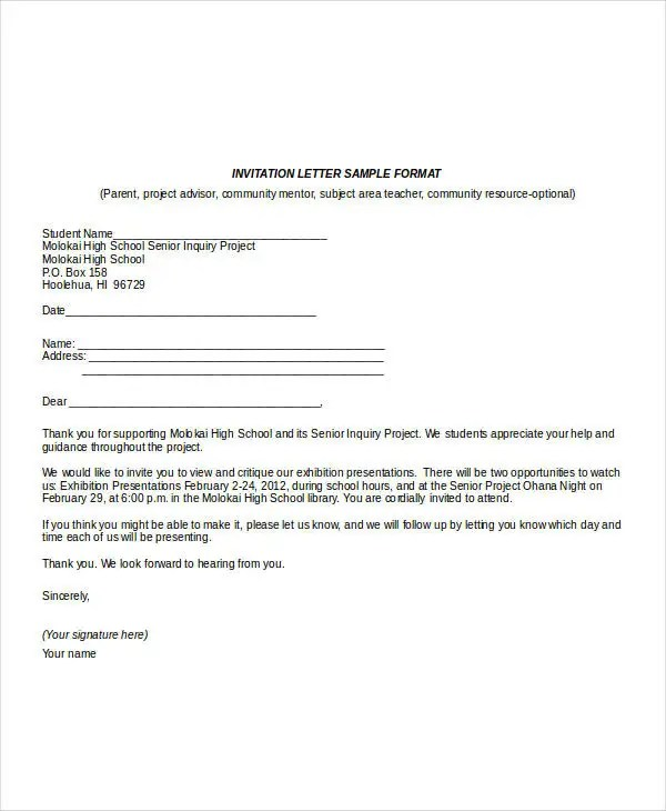 Business Invitation Letter Format » Marriage Invitation Letter