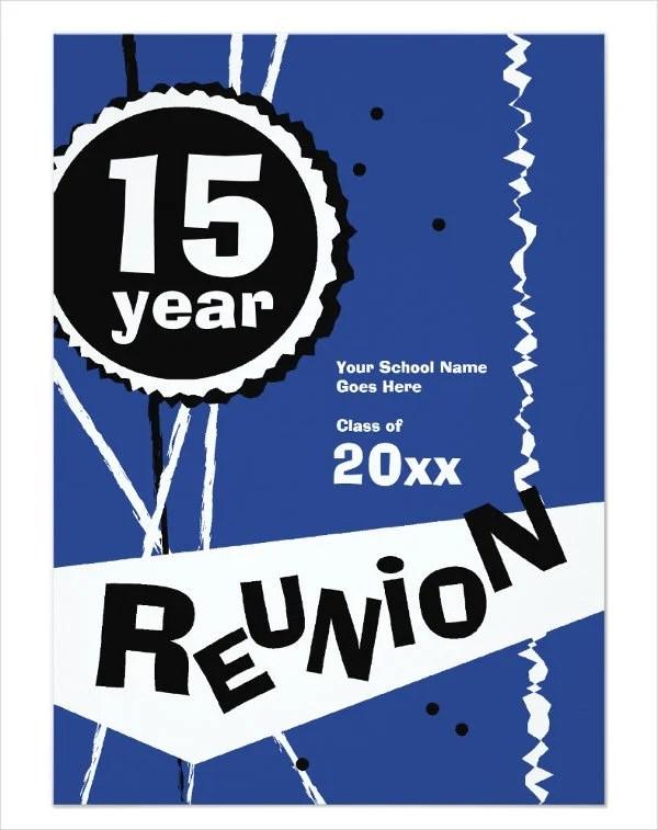 12 Reunion Invitation Templates PSD AI Vector EPS