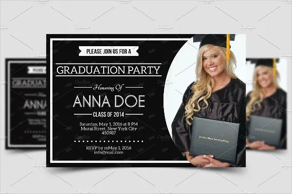 Invitation Graduation Word Template Party