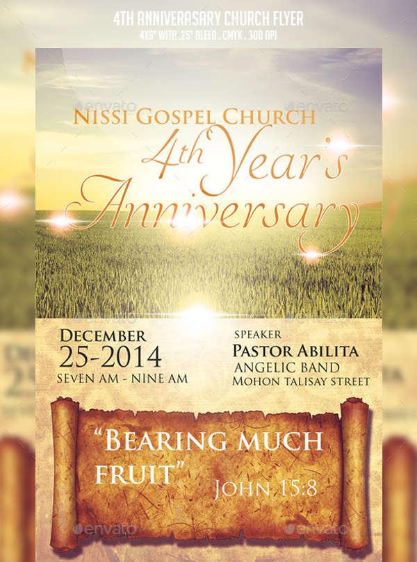Church anniversary invitation cards paperinvite 6 church invitation samples free editable psd ai vector eps stopboris Choice Image