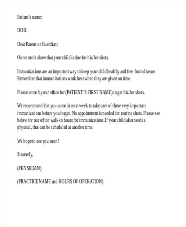 Appointment Reminder Letter Sample