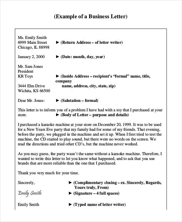 Sample Letters 37 Free Sample Example Format Free