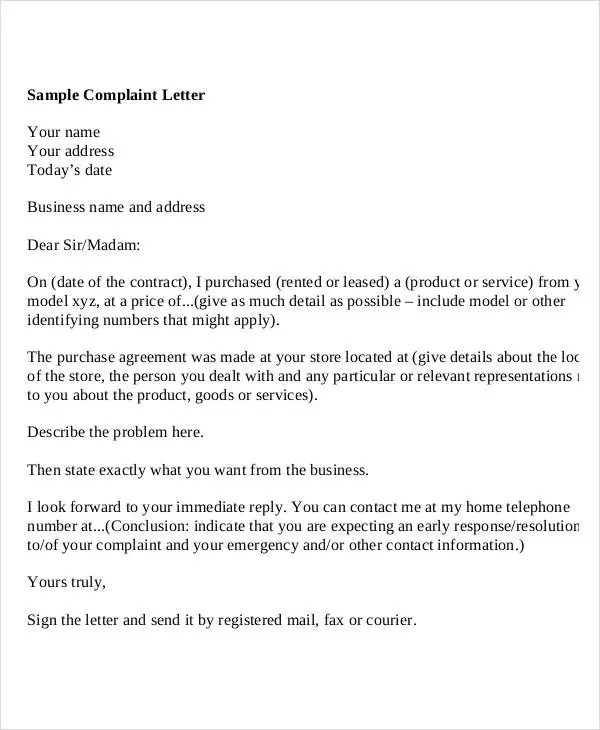 Sample Letters  37 Free Sample Example Format  Free  Premium Templates