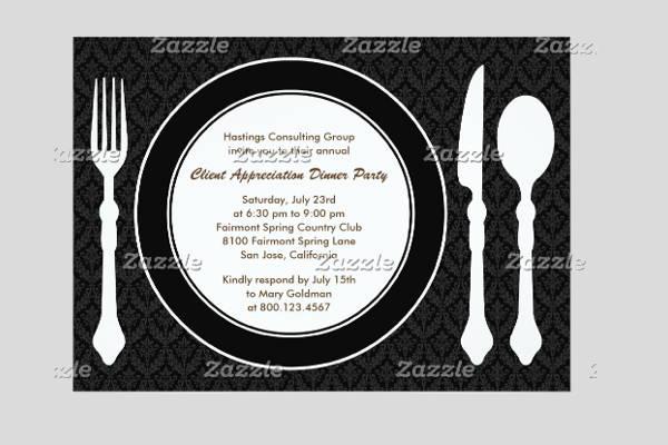 Corporate dinner party invitation template cogimbo sample party invitation templates image collections stopboris Choice Image
