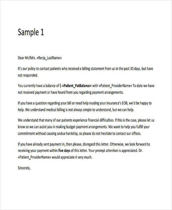 11 Collection Letter Templates Google Docs MS Word