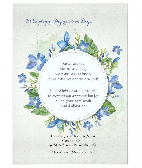 appreciation party invitation wording