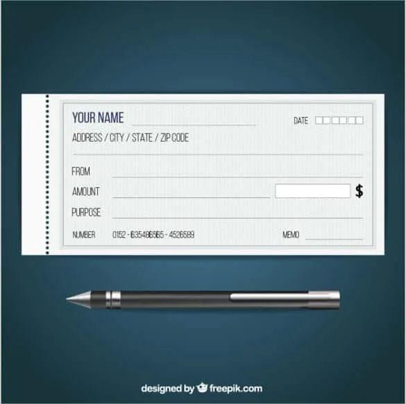 blank checks template