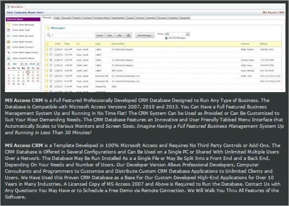 Microsoft access user interface sample. 29 Microsoft Access Templates Free Premium Templates