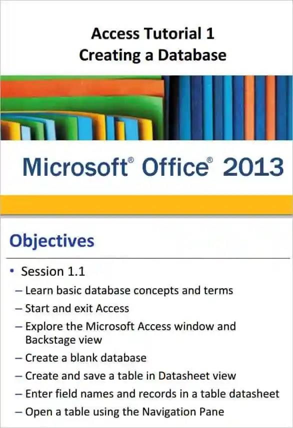 Microsoft Office Access Tutorial Online