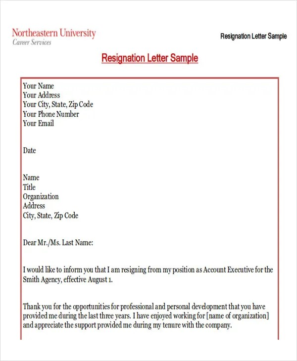 How To Write The Best Resignation Letter Letters All About Examples42 Sample Resignation Letter Template Free Premium Templates Resignation Letter Family Reason Hasnydes Recommended 18 Seriously Resign Letter Due To Family