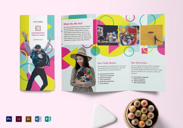20 Examples Of Geometric Brochure Designs Free & Premium Templates