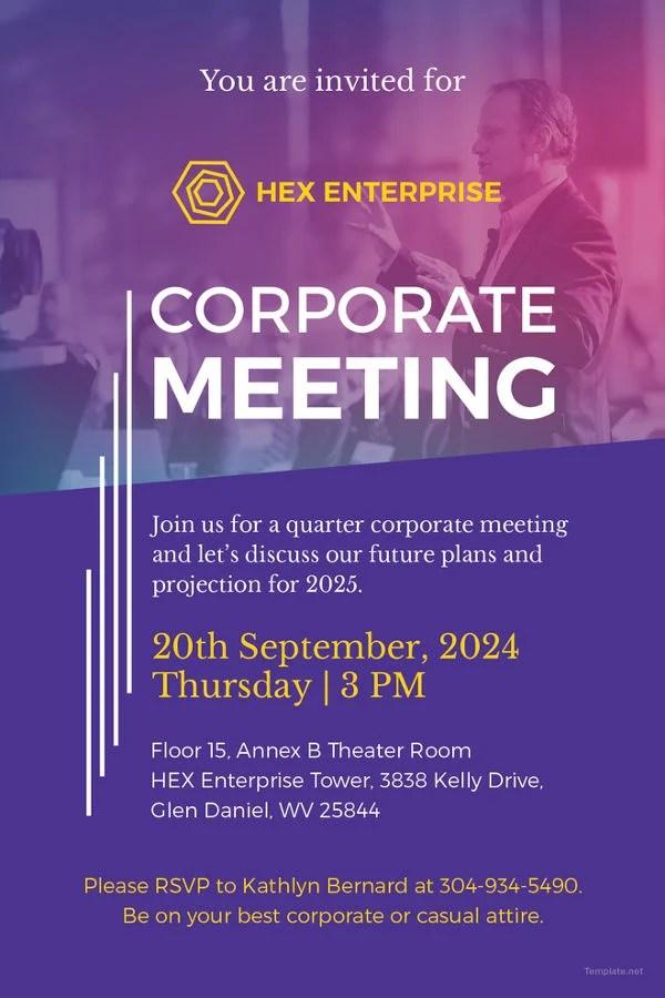 Meeting Invitations Templates