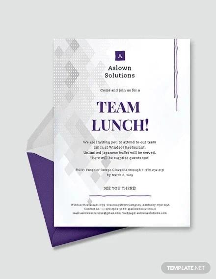 team lunch invitations jpg vector eps