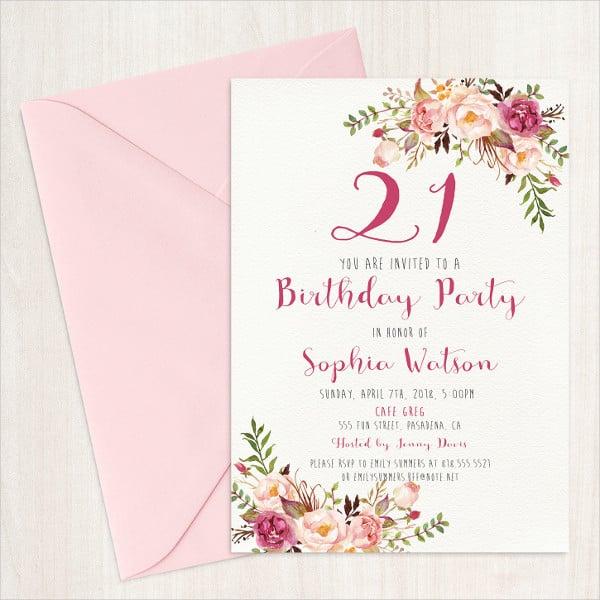 31 Examples Of Birthday Invitation Designs Psd Ai Free