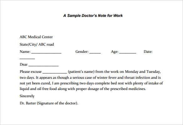 fake dentist note - free download