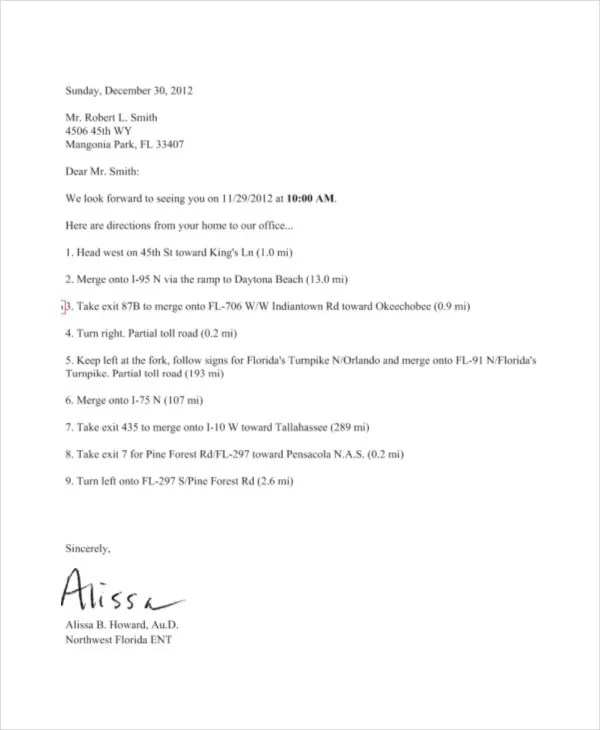Appointment Reminder Letter Template Free | Docoments Ojazlink