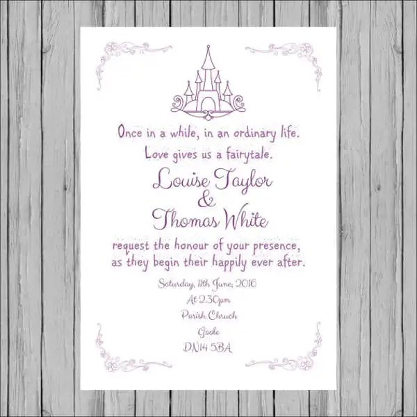 Sample Wedding Invitation Cards Templates