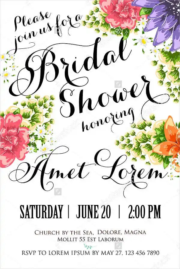 Bridal Shower Invitations Templates Free