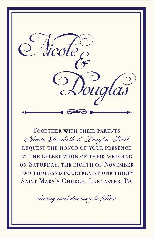 40 Wedding Invitation Formats Psd Ai Vector Eps Free