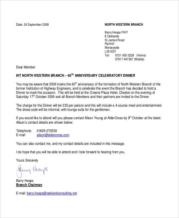 Invitation Letter Sample Dinner. Formal Letter Sample Template 70 Free Word Pdf Doents  Thanksgiving invitations thanksgiving invitation letter Cogimbo us