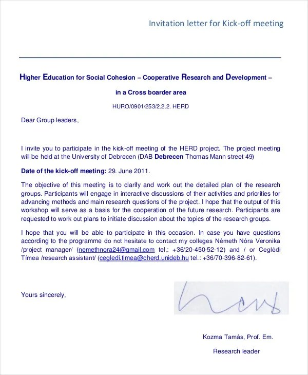 Business Invitation Letters