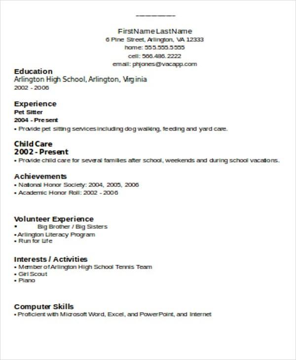 74 Resume Formats  PDF DOC  Free  Premium Templates