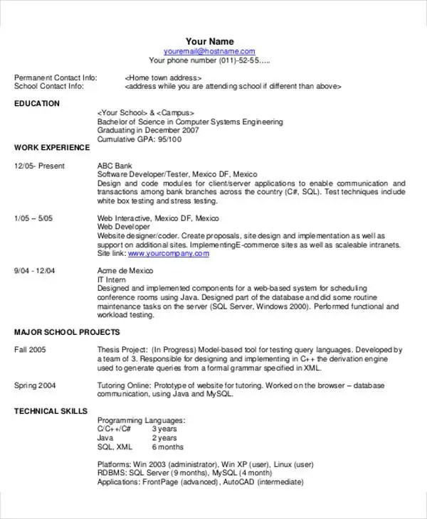 35 Resume Templates PDF DOC Free & Premium Templates