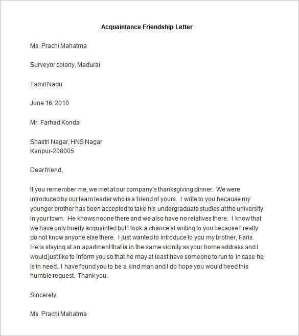 Invitation Writing Examples