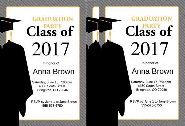sample of graduation invitations