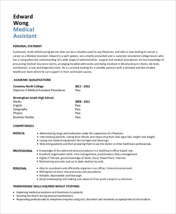 Generic Resume Template  28 Free Word PDF Documents Download  Free  Premium Templates