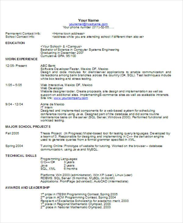 63+ Resume Formats - PDF, DOC | Free & Premium Templates