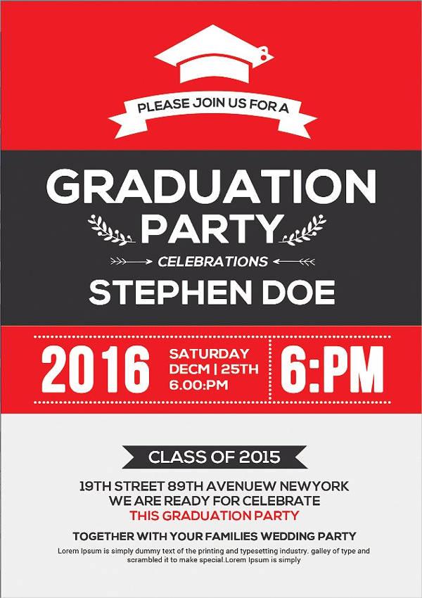 48 Sample Graduation Invitation Designs  Templates  PSD AI Word  Free  Premium Templates