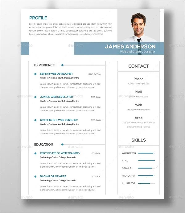 46 Modern Resume Templates  PDF DOC PSD  Free  Premium Templates