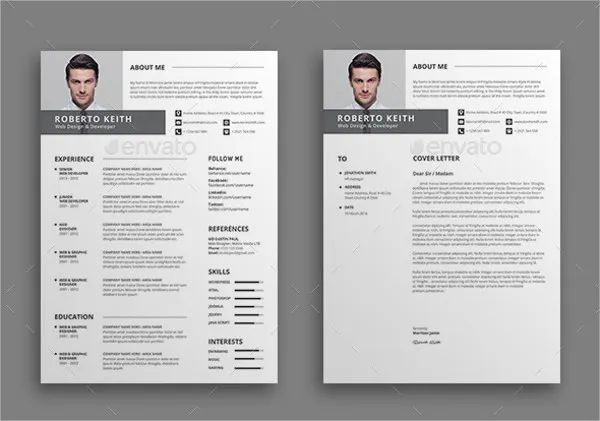 modern marketing resume template
