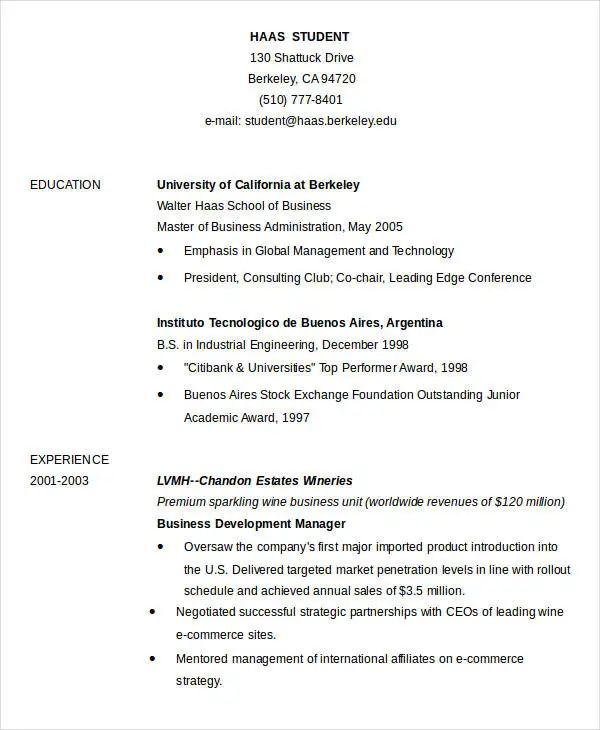 basic resume template word download