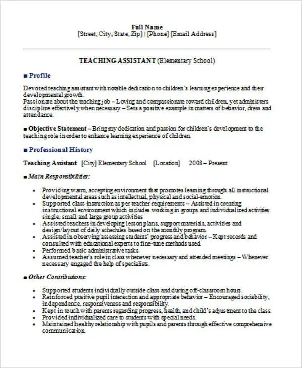 35 Printable Teacher Resume Templates Free & Premium