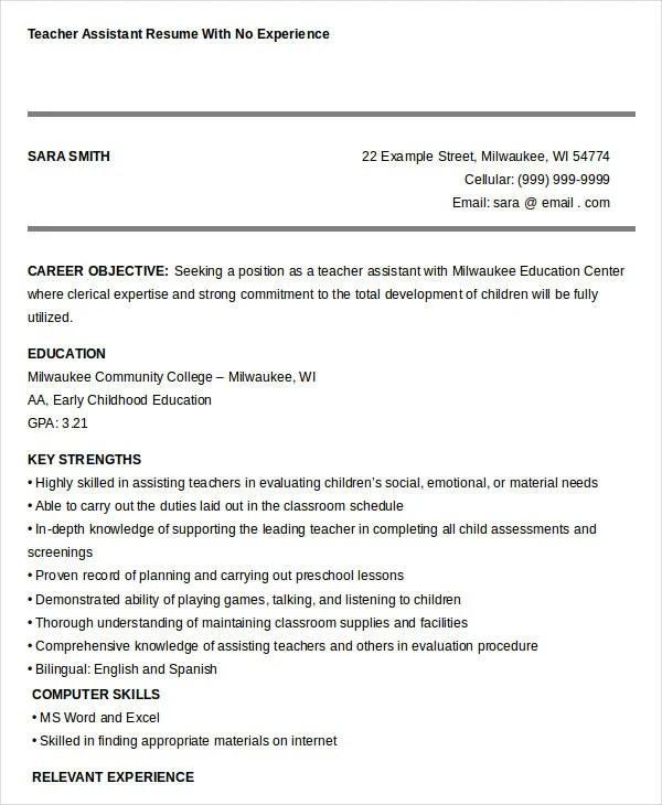 23 Professional Teacher Resume Templates  PDF DOC