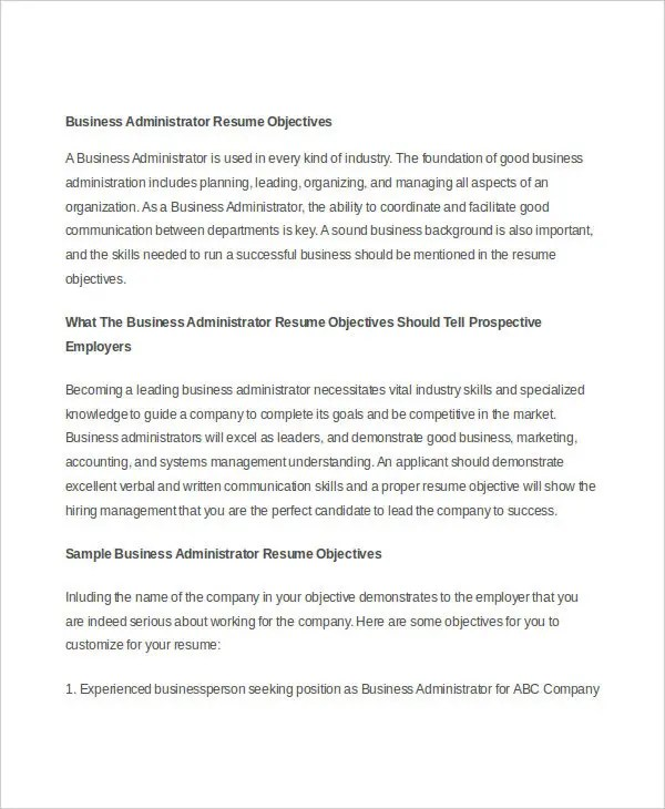 Generic Resume Template  28 Free Word PDF Documents Download  Free  Premium Templates
