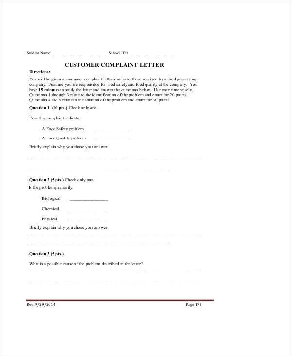 Complaint Letter Sample 28 Free Word PDF Documents Download Free Amp Premium Templates