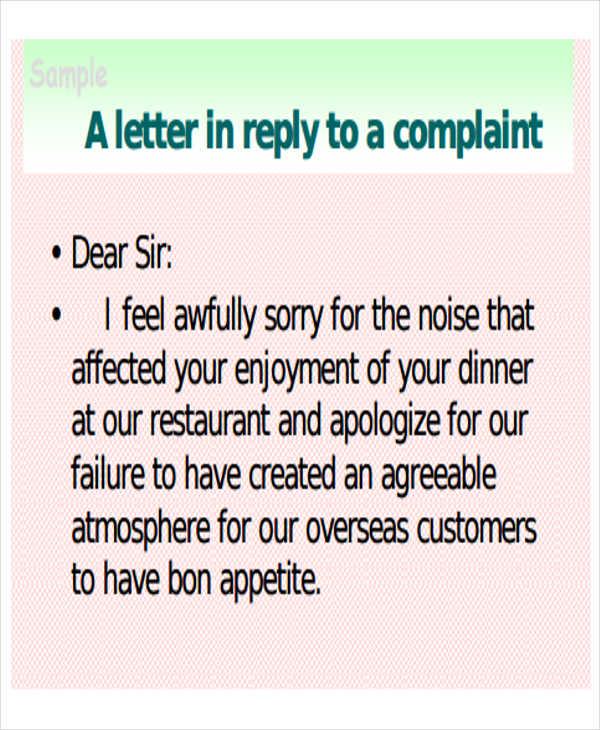 32 Complaint Letter Formats DOC PDF Free & Premium