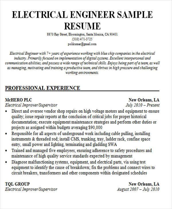 Sample Resume Format For Freshers 4 Best Resume Format For