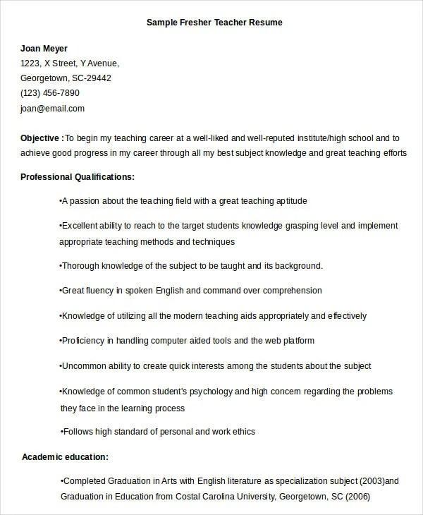 Elementary Teacher Resume Examples Elementary Teacher Resume